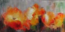 Frames photo modern abstrct Flower oil painting