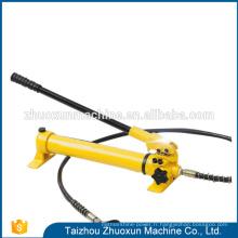 Pompe de cylindre hydraulique manuelle de haute qualité de conception d'acier inoxydable d'essai de mode