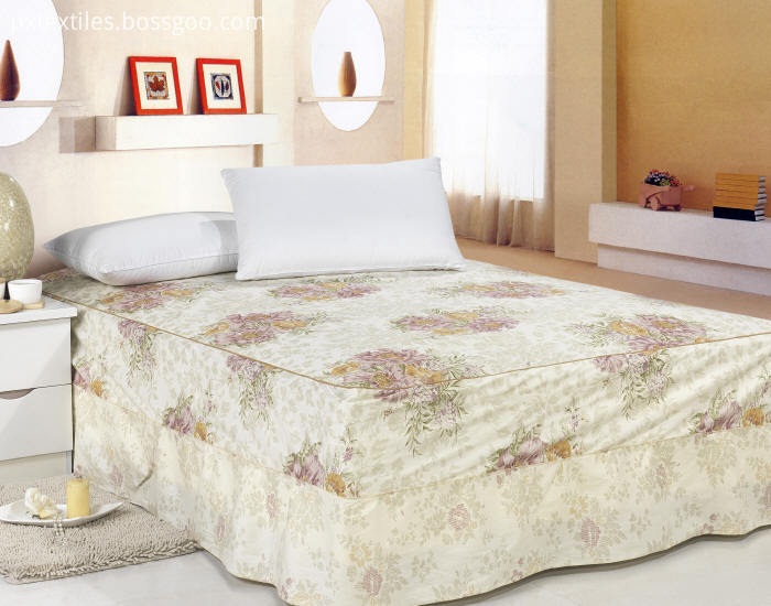 Printed Dust Ruffle Bed Skirt