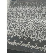 Stickerei weg von der weißen einzigartigen handgemachten Spitze für Hochzeits-Kleid 12