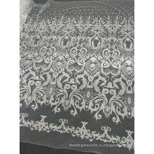 Вышивка Белый уникальные кружевные изделия ручной работы для свадебное платье 12