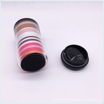 Hot Selling in EU Plastic PP Food Safe Material Takeaway Coffee Tumbler with Filp Lid and Silicone Grip
