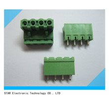 5.08mm Straight 4 Pin Screw Terminal Block Connector Pluggable Type Green
