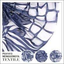 Venda quente de alta qualidade moda poliéster flor bordado tecido