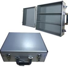 Caja de herramientas de aluminio abierta ancha con espacio dividido