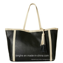 Pebbled PU Leather with Perforated Trm Ladies Handbag (ZXS0083)