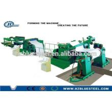 Machine de coupe à longueur pour la tôle d'acier métallique