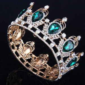 Venta caliente grande ronda completa concurso coronas de la reina