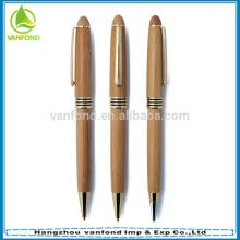 Logotipo de reciclado grabado bolígrafo de bambú promoción