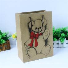 Bolsa de papel linda bufanda con logotipo personalizado