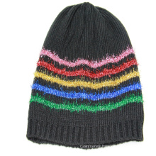 2020 Wholesale Winter Knit Hat Beanie Hats plain color with colourful lurex