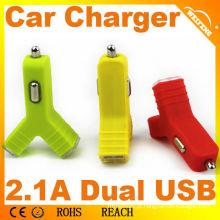 Carregador colorido do carro da bateria 2100mA para comprimidos