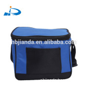 high quality 600D cooler bag with 2 compartment ice bag with PP webbing shoulder strap