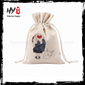 Customized latest designs small fabric drawstring canvas bag
