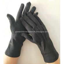 Sure Grip Black Cotton Gloves Anti Slip Gloves