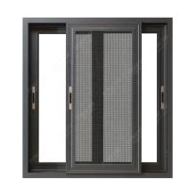 Puertas y diseños de ventanas de aluminio, ventanas de aluminio insonorizadas con doble vidrio corredizo