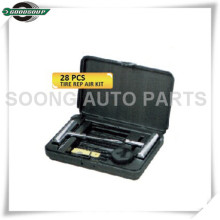 Kit de réparation de crevaison de pneu tubeless de kits de réparation de pneu de voiture de 28 PCS