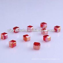 Lampwork Cube Glass Beads