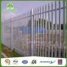 Clôture de palissade galvanisée de type High W de 2,1 m