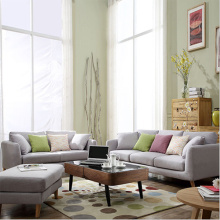 Living Room Couch Lounge 3-bädd linne soffa set