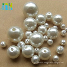 Jewelry fashion round ABS plastic pearls with hole beads