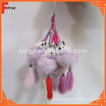 Mink Fur Keychain in small fox shape