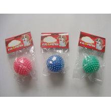 Bola de vinilo del juguete del perro con los productos del animal doméstico de los puntos