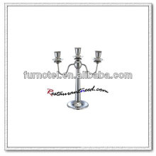 T201 H315mm Stainless Steel 3 Heads Candle Holder