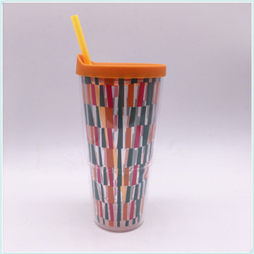 Wholesale 680ml High Quality Single Wall Cold Juice Drinking Disposable Plastic Cup