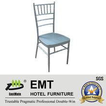 Metal que apila la silla de plata del banquete del color (EMT-809-Silver)