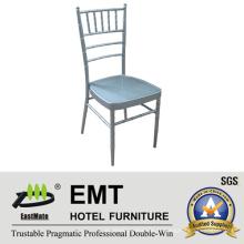 Chaise de banquet en métal empilable en métal (EMT-809-Silver)