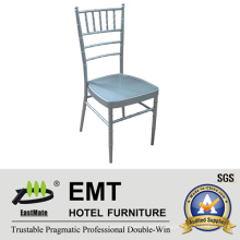 Metal Stacking Silver Color Banquet Chair (EMT-809-Silver)