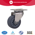 Roestvrije 2 Inch 40Kg Plate Swivel TPE Caster