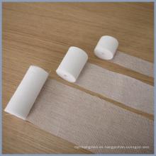 CE e ISO13485 100% algodón absorbente gasa vendaje rollo