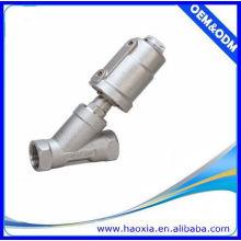 Válvula de ângulo de 2/2 vias com corpo de aço inoxidável