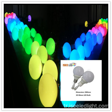 Colordreamer 80mm RGB LED DMX Ampul ışığı