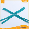 Detector de metales respetuoso del medio ambiente 3 # cremalleras de nylon cierre final ZN20008