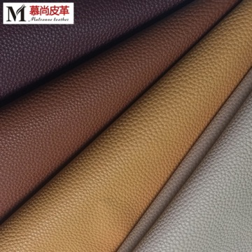 Litchi Pattern Milled Bold Grain en cuir synthétique en PVC