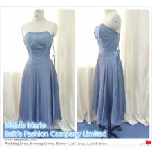 Appliqued Short Length Open Back Mulheres Vestidos on-line para vestidos de noite de chiffon de seda BYE-14063
