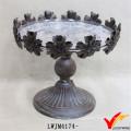 Vintage Floral Edge Custom Decorative Metal Plate