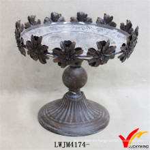 Placa de metal decorativa de encargo del borde floral del vintage