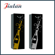 Black Bottle Paper Pack Bag with Hot Stamping Design