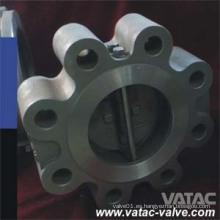 Válvula de retención de oblea completa de doble placa Lug