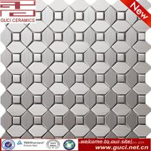 foshan fournissent la mosaïque mélangée d'acier inoxydable pour la conception de mur de cuisine