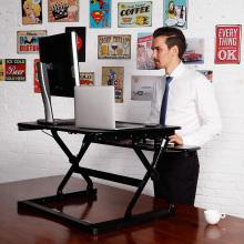 """Loctek 35"""" Wide Platform Height Adjustable Standing Desk Riser, Sit-Stand Workstation, Black (MT101M)"""