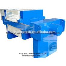 Leo Filter Press Filtro de prensa de placa hidráulica industrial, Hydaulic Filter Press de presión con diferente sistema hidráulico de Leo