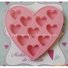 Molde en forma de corazón de la torta del silicón (SE-294)