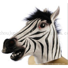 Plastic Zebra Horse Mask Toy for Halloween Cosplay Promotion