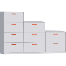 Orange Handle Lateral File Cabinet