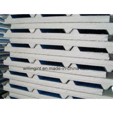 Material de espuma para telhado de parede Painel de sanduíche EPS de fácil isolamento